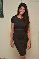 Priya Vadlamani super cute in tight brown dress at Stone Media Films production No 1 movie announcement 019.jpg
