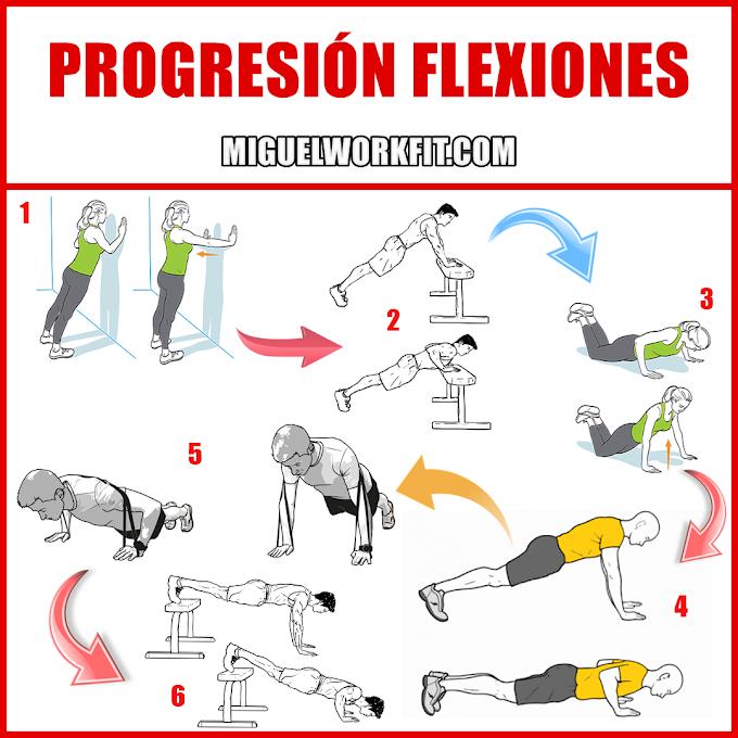 Progresión para las flexiones