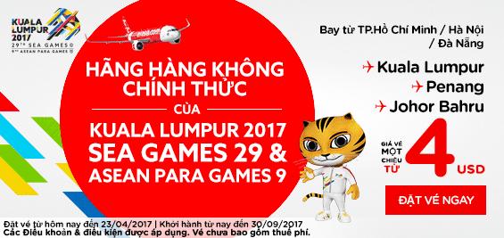 khuyến mãi vé bay đến Sea Games 29 giá  chỉ từ 4 usd
