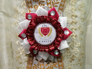 Red and white Ribbon Lei for Guest Speaker for Lyceum of the Philippines University - Cavite