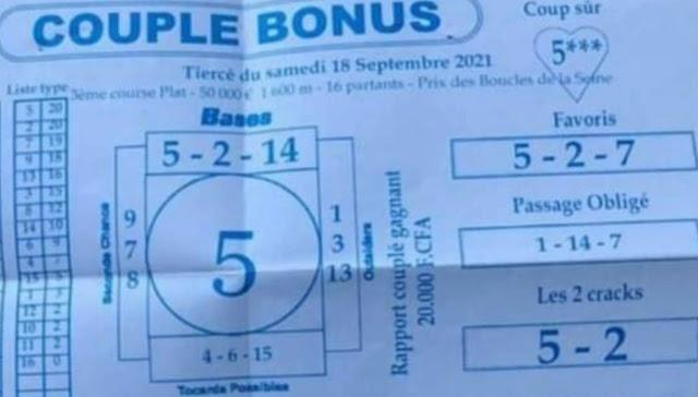 Pronostics quinté pmu samedi Paris-Turf-100 % 18/09/2021