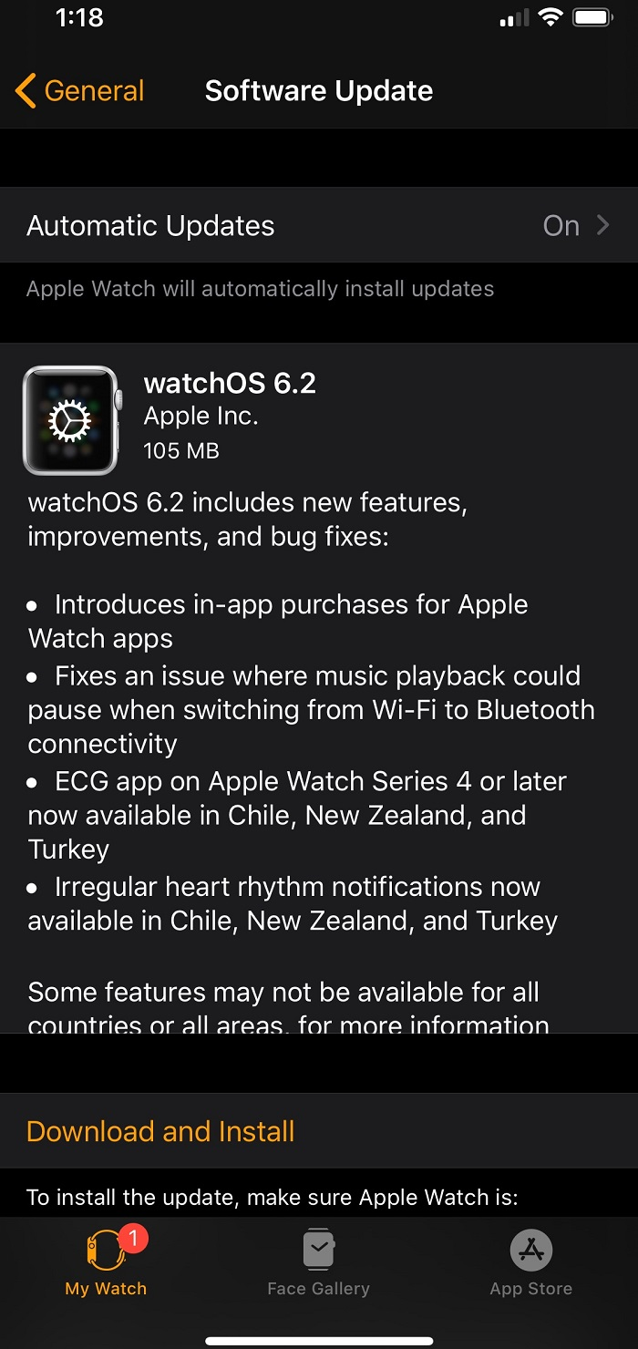 watchOS 6.2 Features Changelog