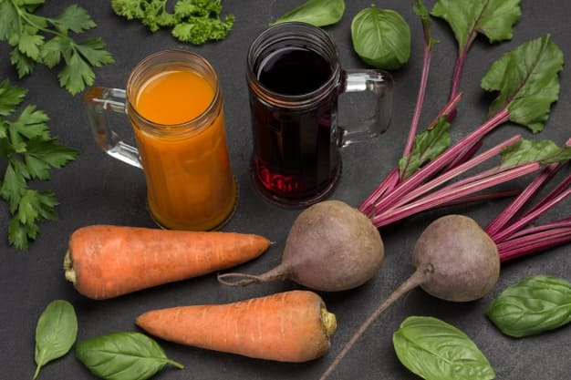 Juice for cancer consisting of beetroot and carrots