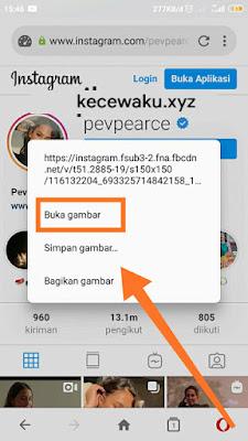 Cara melihat foto profil di ig