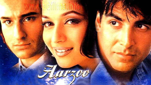 One of a good films.  Aarzoo (1999) is an Indian Hindi language film directed by Lawrence D'Souza in 1999. The film is starred by Akshay Kumar, Madhuri Dixit, Saif Ali Khan, Amrish Puri, Mohan Joshi, Yunus Parvez, Laxmikant Bedre, Reema Lagoo, Aruna Irani, Anil Nagrath, Vika Anand, Baby Gazala and some others.   I watched it tonight. I felt very satisfaction. I knew a good story about love. The Rich think always them in a big position of the society. But they forget that the poor are always living with high respect doing their own job sincerely. Their jobs are also notable to all. Though a man is a pilot, he plays his duty respectfully and sincerely. The poor have a heart. But the Rich sometimes forget that. It is their fault. Besides a real lover never want to give sorrow his/her lover. A good film I have watched. But some scenes are not likeable to me. Specially, the film is very good for example it's sound, picture, music, editing system overall everything.    Watch the full Hindi movie Aarzoo (1999) here...