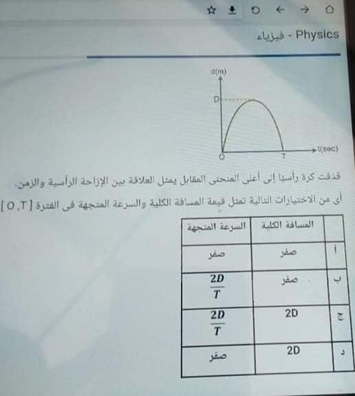 امتحان الفيزياء للصف الاول الثانوي الترم الاول 2021 16