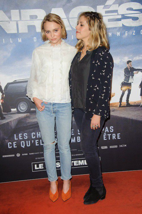 Lily-Rose Depp and his MOM Guillaume Gouix