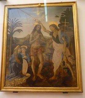 Bautismo de Jesús (1470–1480) de Leonardo da Vinci.