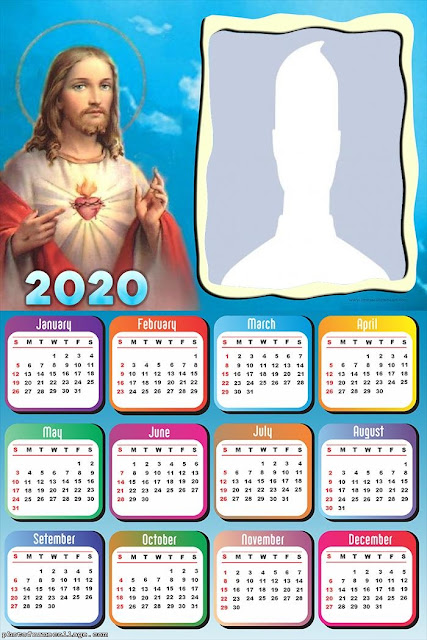 Jesús: Calendario 2020 para Imprimir Gratis.