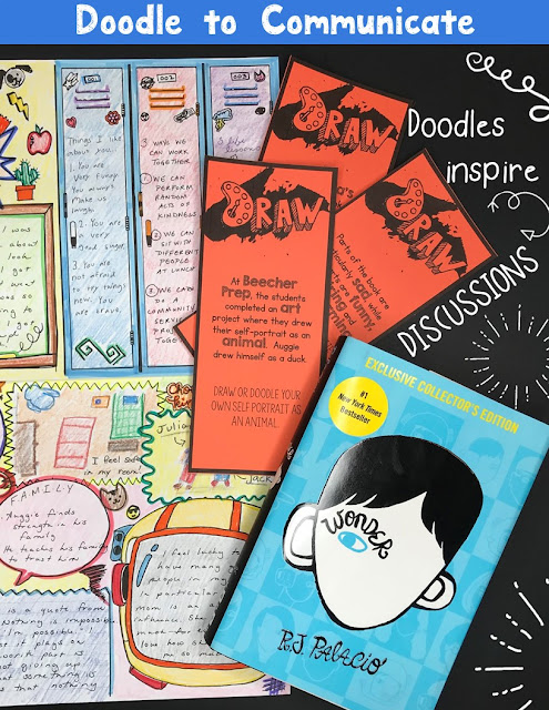 Have students reflect on the novel with this set of Wonder task cards, discussion questions, and doodle tasks!