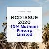 10% Muthoot Fincorp Limited NCD (Muthoot Fincorp NCD Jan 2020)