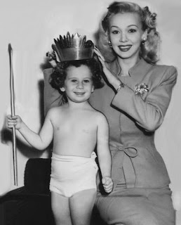 Carole Landis With A Baby