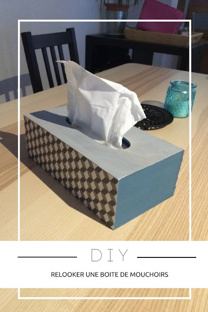 DIY : Comment relooker simplement une boite de mouchoirs ? www.by-laura.fr