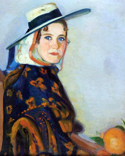 Mujer Ibicenca, Laureano Barrau Buñol, Pintor Catalán, Pintor español, Cuadros de Laureano Barrau Buñol, Barrau Buñol, Laureano Barrau