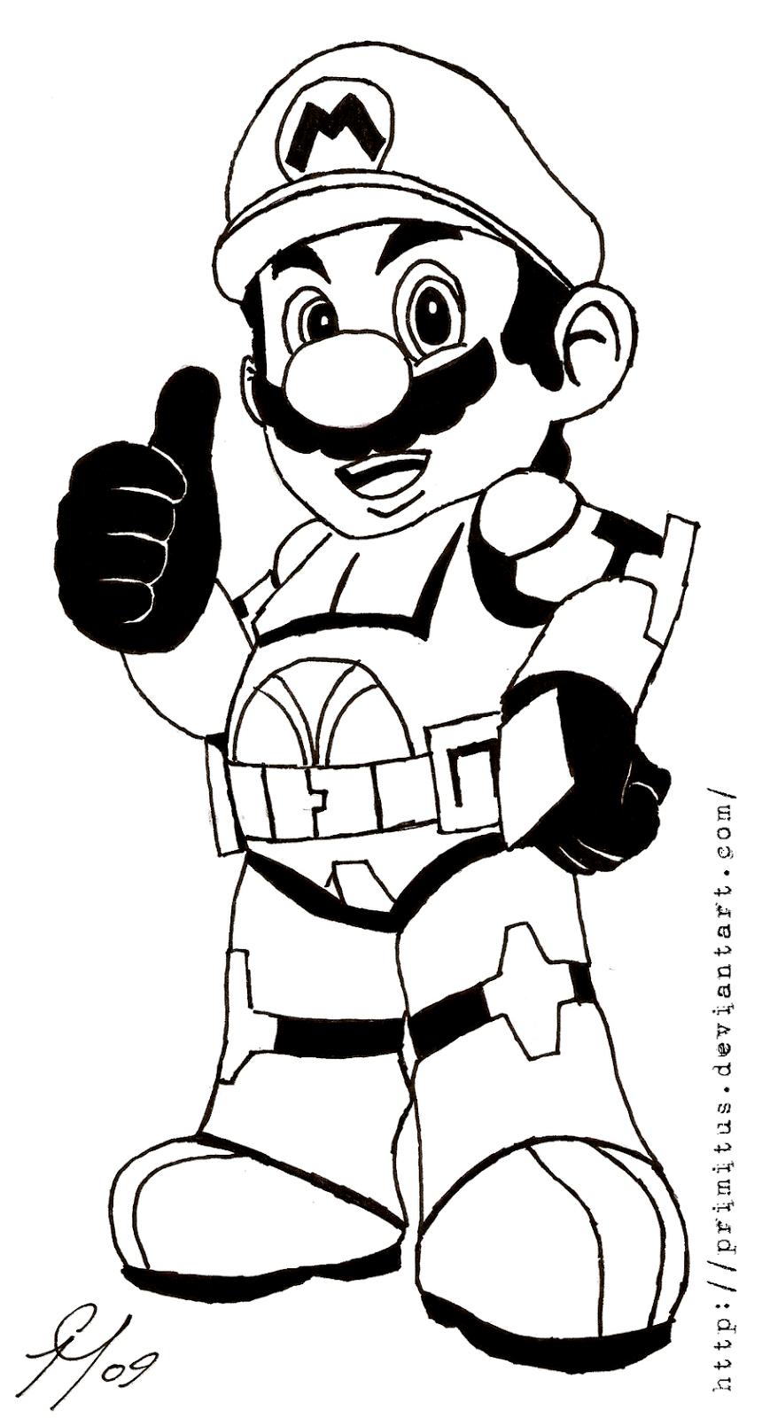 Disegni Da Colorare Mario Bros