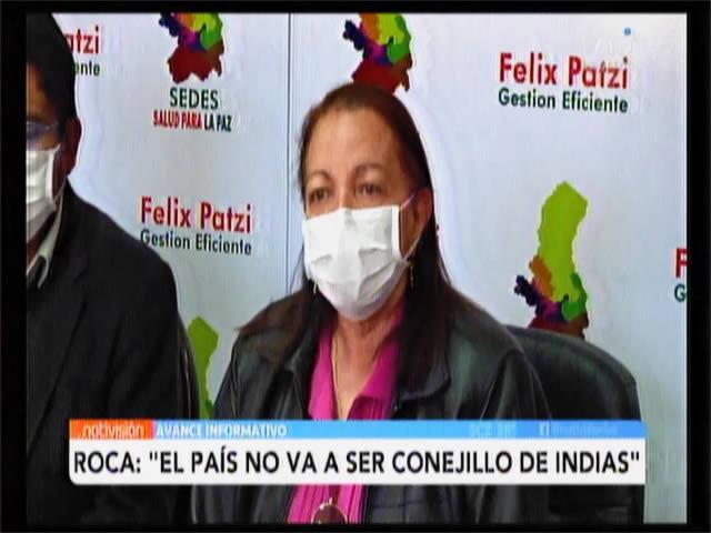 El país no va a ser conejillo de indias, afirmó Roca respecto a adquisición de vacuna contra el Covid-19