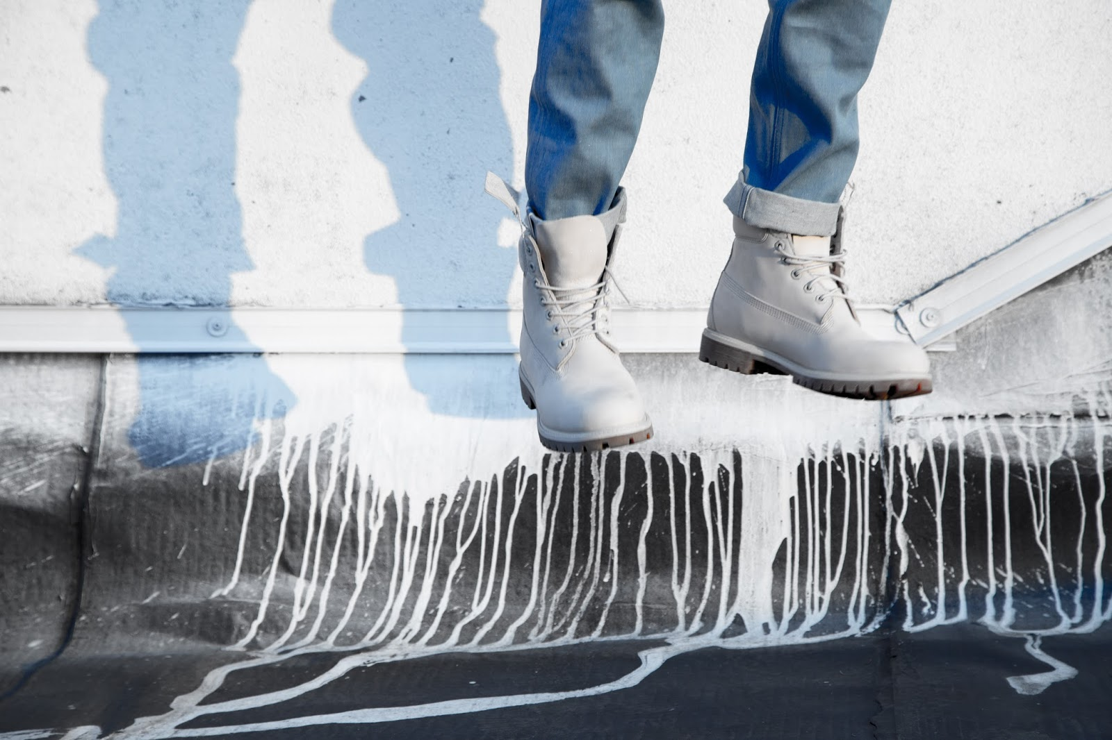 Style Tip #5 : Monochrome Timberland boots with denim on denim G-Star Raw look