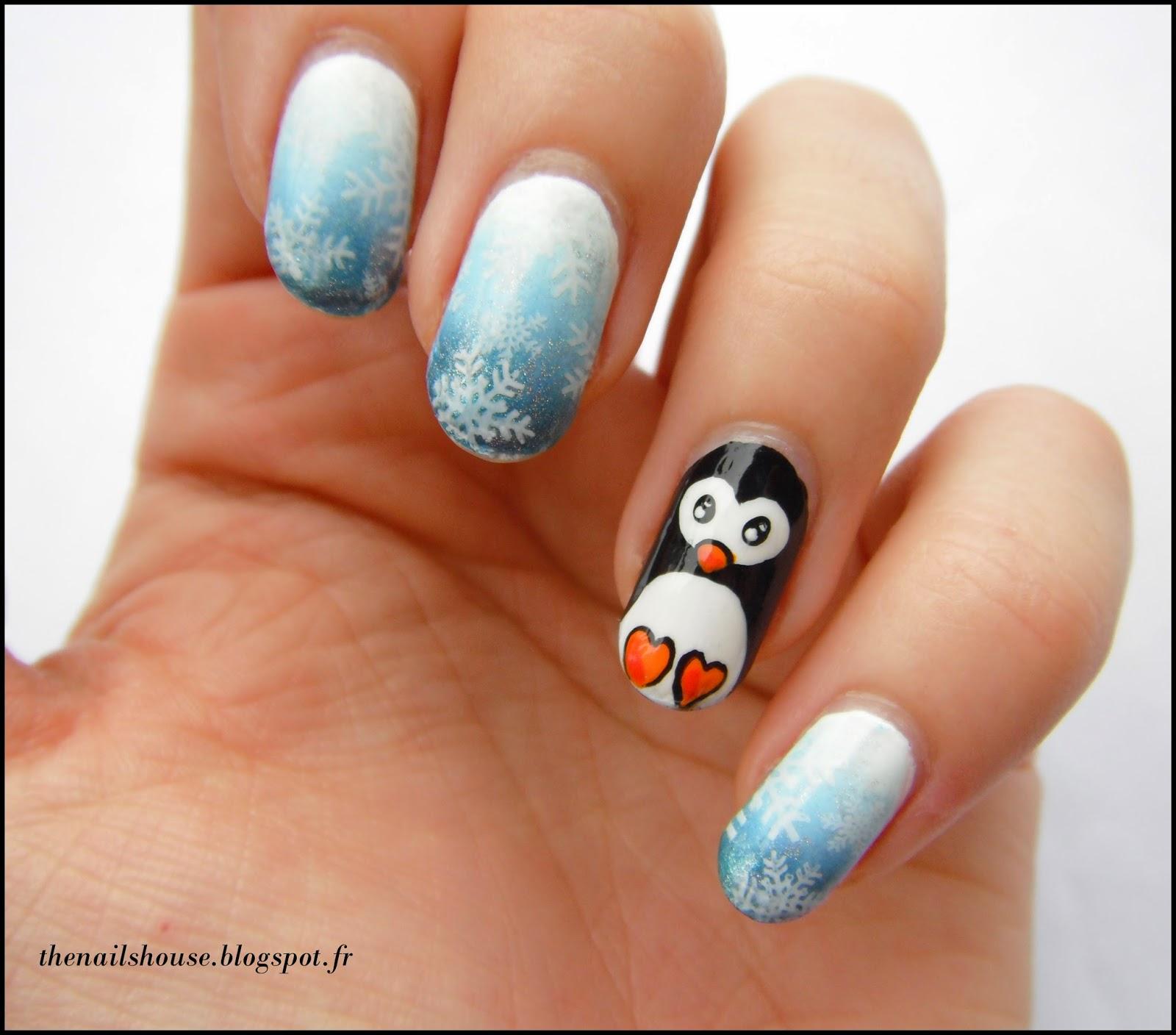 le petit pingouin sur sa banquise the nails house. Black Bedroom Furniture Sets. Home Design Ideas