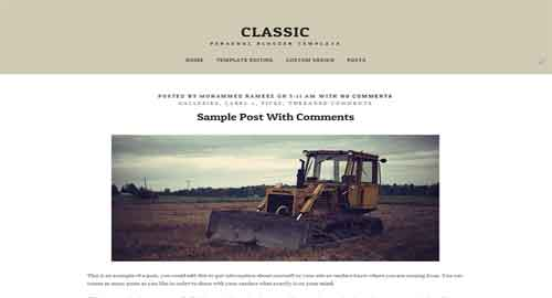 Classic Writing Blogger Template
