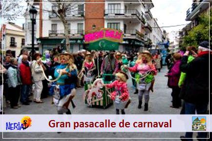 Podrá disfrutar o participar en el gran desfile del carnaval de Nerja