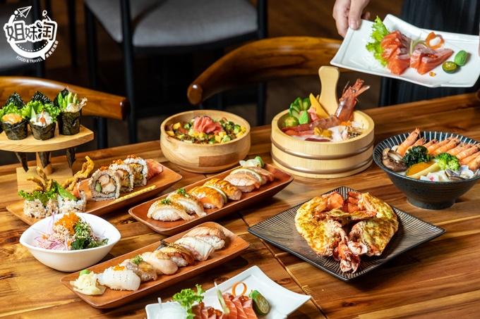 在夢時代全新開幕!!cp值爆表的日式料理在這裡,櫻花系裝潢怎麼拍都很仙-築富水產