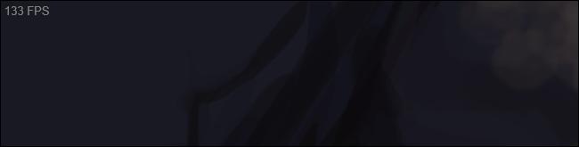 عداد FPS الرمادي القياسي الخاص بـ Steam في الزاوية العلوية اليسرى من اللعبة.