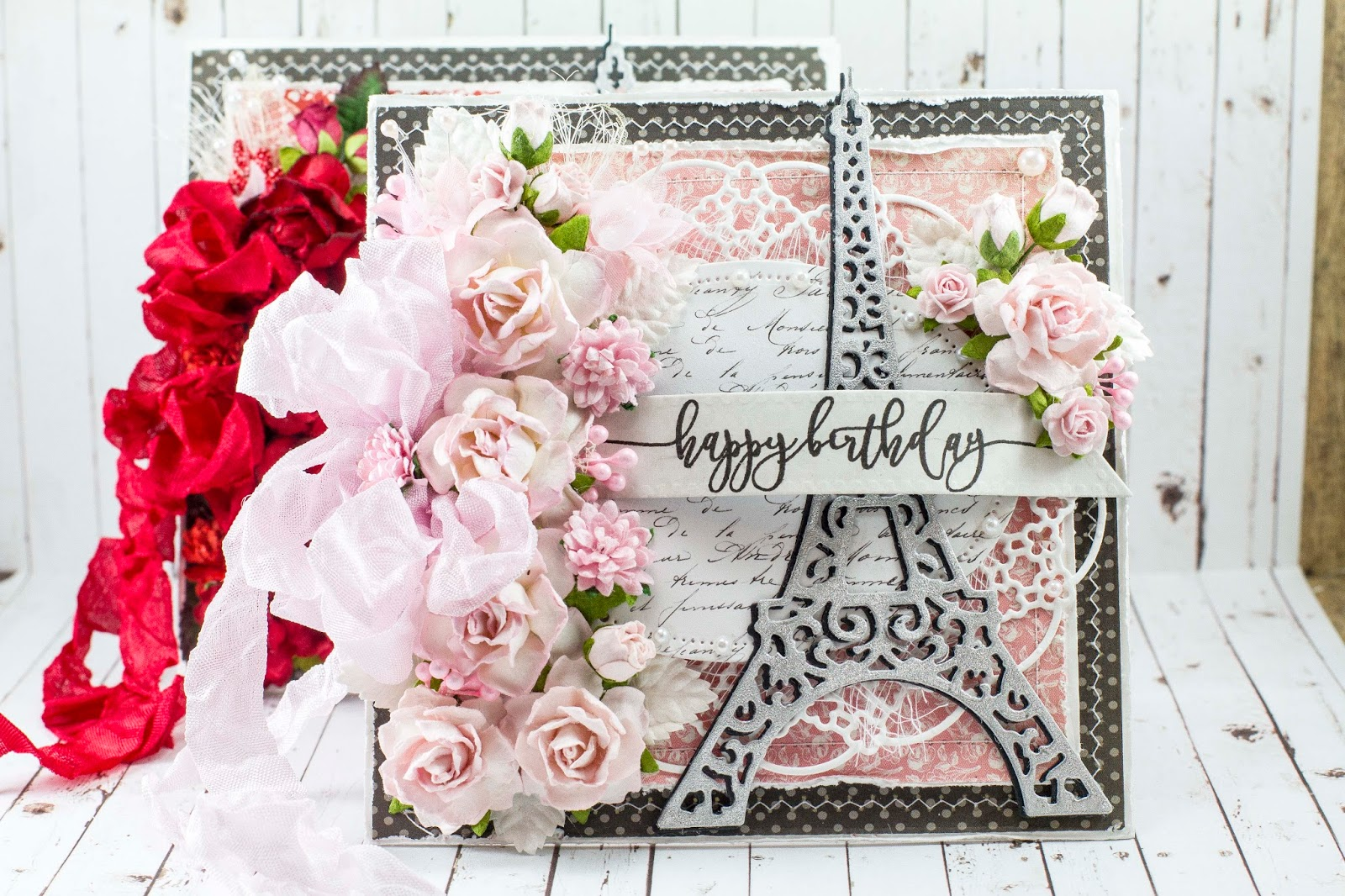 Wild orchid crafts happy birthday cards happy tuesday everyone lisa here to share a couple of paris themed birthday cards with you using several wild orchid crafts flowers and embellishments izmirmasajfo