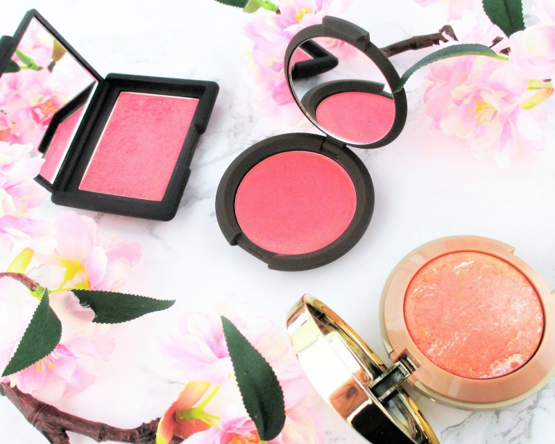 milani and becca and nars blushes in coral for spring