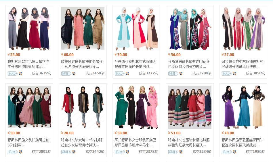 Kedai Borong Pakaian Muslimah di Guangzhou