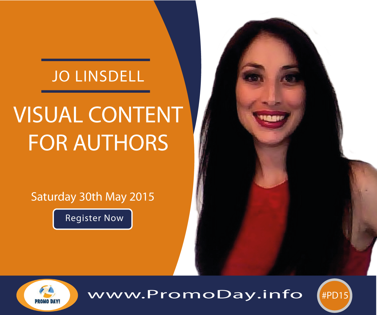 #PD15 Webinar: Visual Content for Authors with Jo Linsdell, www.PromoDay.info #free #event