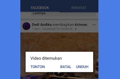 Cara Mudah Download Vidio di Facebook Lewat HP Android