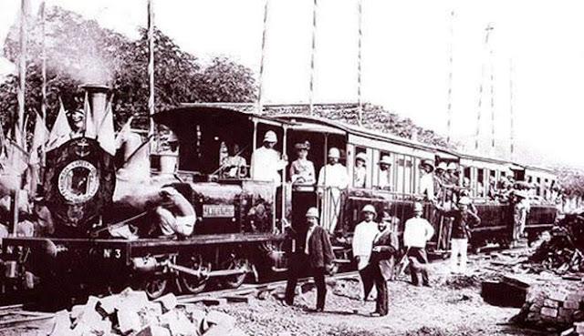 Chuyến xe lửa đầu tiên tuyến Sài Gòn - Mỹ Tho.