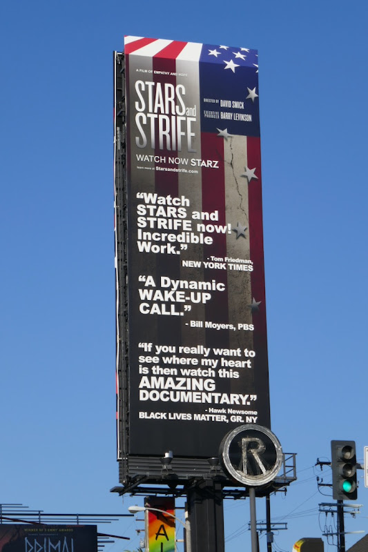 Stars and Strife documentary billboard