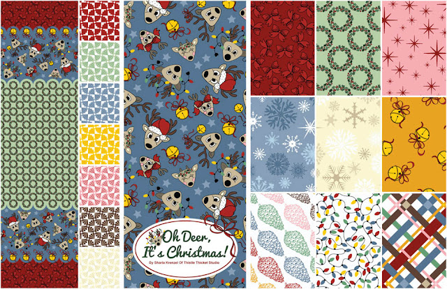 Oh Deer, It's Christmas! Collection Designed By Thistle Thicket Studio. www.thistlethicketstudio.com