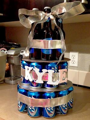 Post Grad Crafting Beer Birthday Cake
