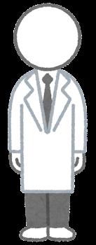 服を着た棒人間のイラスト(白衣)