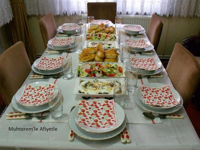 iftar masası menü önerisi
