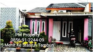 Rumah Cluster Murah Over Kredit NEGO Selangkah Ke Stasiun KRL Tambun