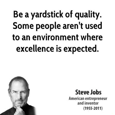 Excellence Quotes Steve Jobs