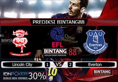 Prediksi Skor Lincoln City vs Everton 29 Agustus 2019