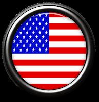 Bandeira EUA em moldura