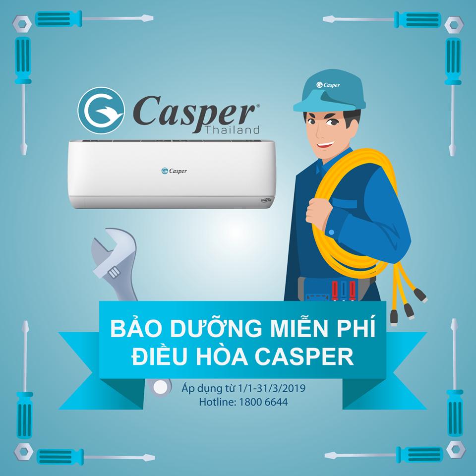 Chương trình bảo dưỡng miễn phí điều hòa Casper | THE ANH ELECTRIC