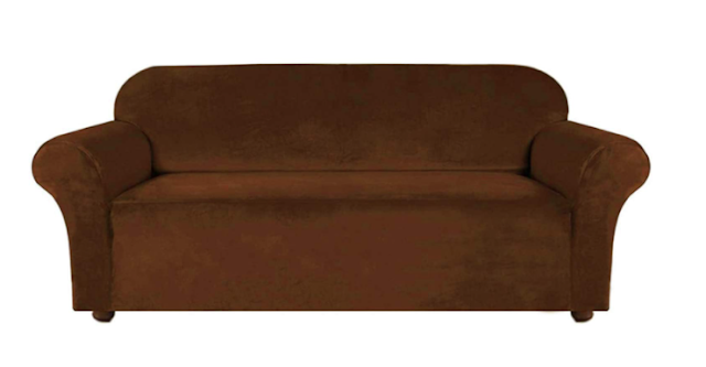House of Quirk Modern Velvet Plush Universal Sofa Cover Big Elasticity Cover for Couch Flexible Stretch Sofa Slipcover