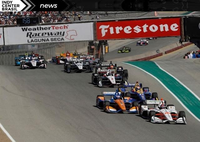 Corrida da Fórmula Indy em Laguna Seca