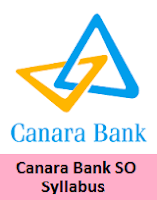 Canara Bank SO Syllabus