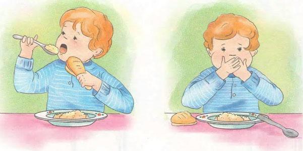 Llenarse la boca de alimentos