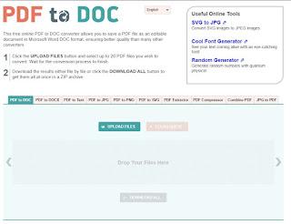 تحويل ملفات PDF إلى الورد Word والعكس