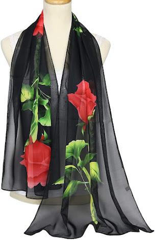 Best Black Chiffon Scarves Shawls