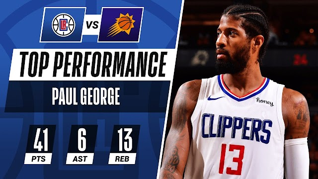 Paul George Erupts for 41, Clippers Extend Series
