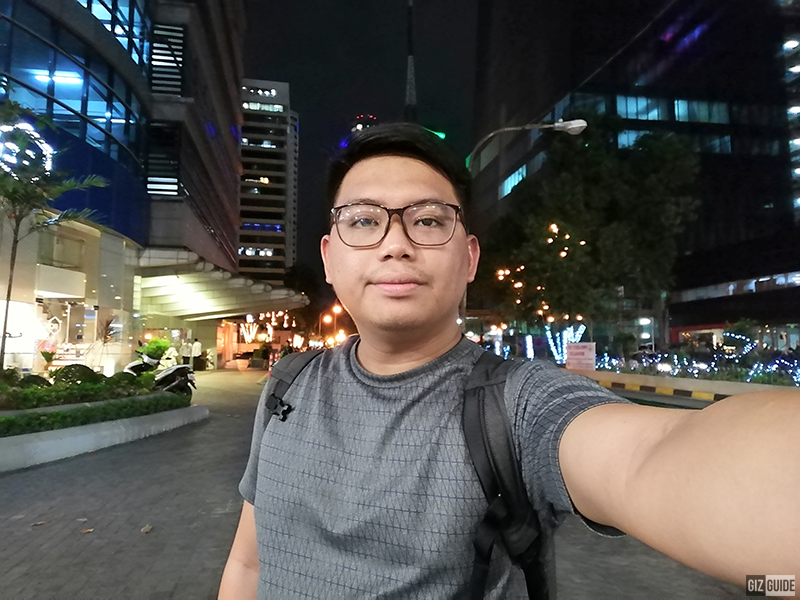 Selfie at night